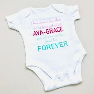 Personalised Baby Romper New Baby Gift Personalised Sleepsuit Baby Girl Clothes Baby Shower Gift Unicorn Baby Gift Baby Vest