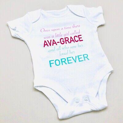 PERSONALISED unisex baby clothing rainbow vest babygrow baby shower gift SLOGAN