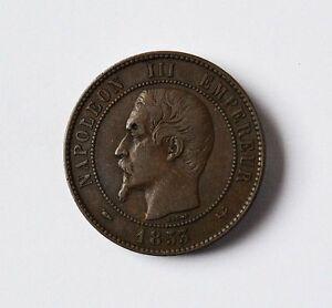 10 Centimes Münze Frankreich 1853 Napoleon Iii Lille Coin France