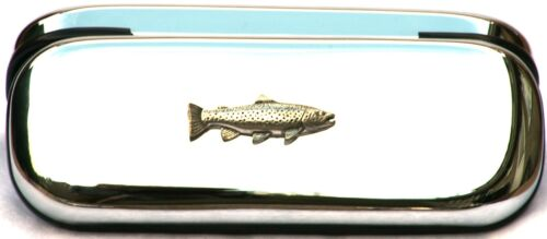 Brown Trout Fishing Glasses Spectacle Case  Shooting Gift FREE ENGRAVING POSTAGE