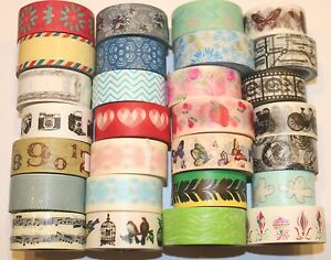 Wider-Washi-Tape-20mm-x-5m-Rolls-Decorative-Sticky-Paper-Masking-Tape-Adhesive