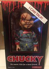 "Mezco Toyz 15"" Mega Scale Talking Scarred Face Chucky Doll New"