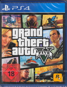 Grand-theft-auto-v-GTA-5-ps4-playstation-4-NEUF-amp-OVP-version-allemande