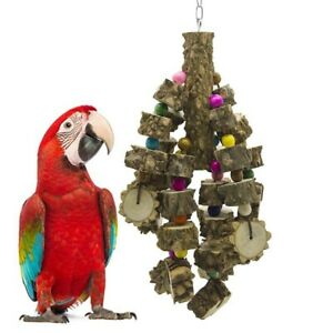 Parrot-Toys-Natural-Wood-Bird-Chewing-Toys-Parakeet-Cage-Hammock-Hanging-Toy