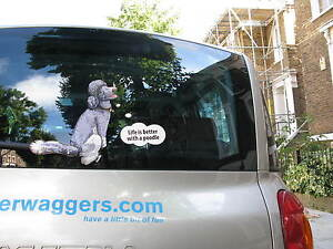 POODLE-LOVER-DOG-CAR-STICKER-NOVELTY-GIFT-COLLECTABLE-WITH-WIPER-WAGGING-TAIL