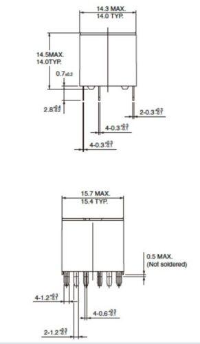 G8NB-27SR 5A Carrying Current J 800mW 3 pcs Omron Twin Automotive Relay 12V DC