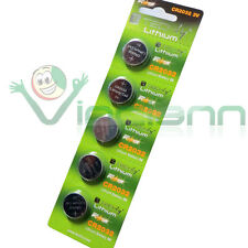 5 batterieTechly CR2032 bottone batteria orologio pila calcolatrice giocattoli