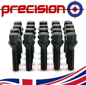 20-Black-Extended-45mm-Wheel-Nut-Bolts-Nuts-for-BMW-3-Series-upto-2011-Models