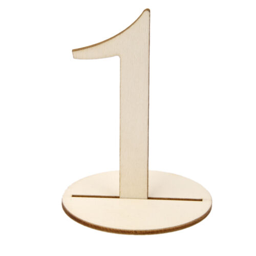 1-40 Rustic Wooden Set Table Numbers With Base Wedding Birthday Party Decor