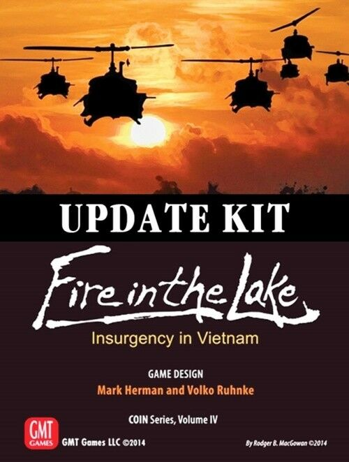 UPDATE KIT Fire in the Lake, COIN Vol. IV, Boardgame by GMT, New, English