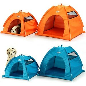 Image is loading One-Touch-Portable-Folding-large-Dog-House-tent-  sc 1 st  eBay & One-Touch Portable Folding large Dog House tent for indooroutdoor ...