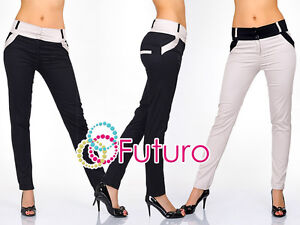 Sexy & Trendy Fashion Pants with Buttons Trousers Pencil Size 8 - 16 UK 1053
