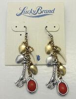 Lucky Brand Two Tone Safari Giraffe Horn Charms Earrings