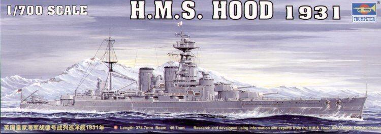 Trumpeter 1 700 1931 HMS Hood