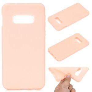 Handy-Huelle-Samsung-Galaxy-S10e-Handyhuelle-Silikon-Case-Schutzhuelle-matt-Rosa