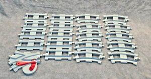 Lego-Duplo-Train-Track-Grey-9x-Straights-10x-Curves-1x-Splitter-Bundle