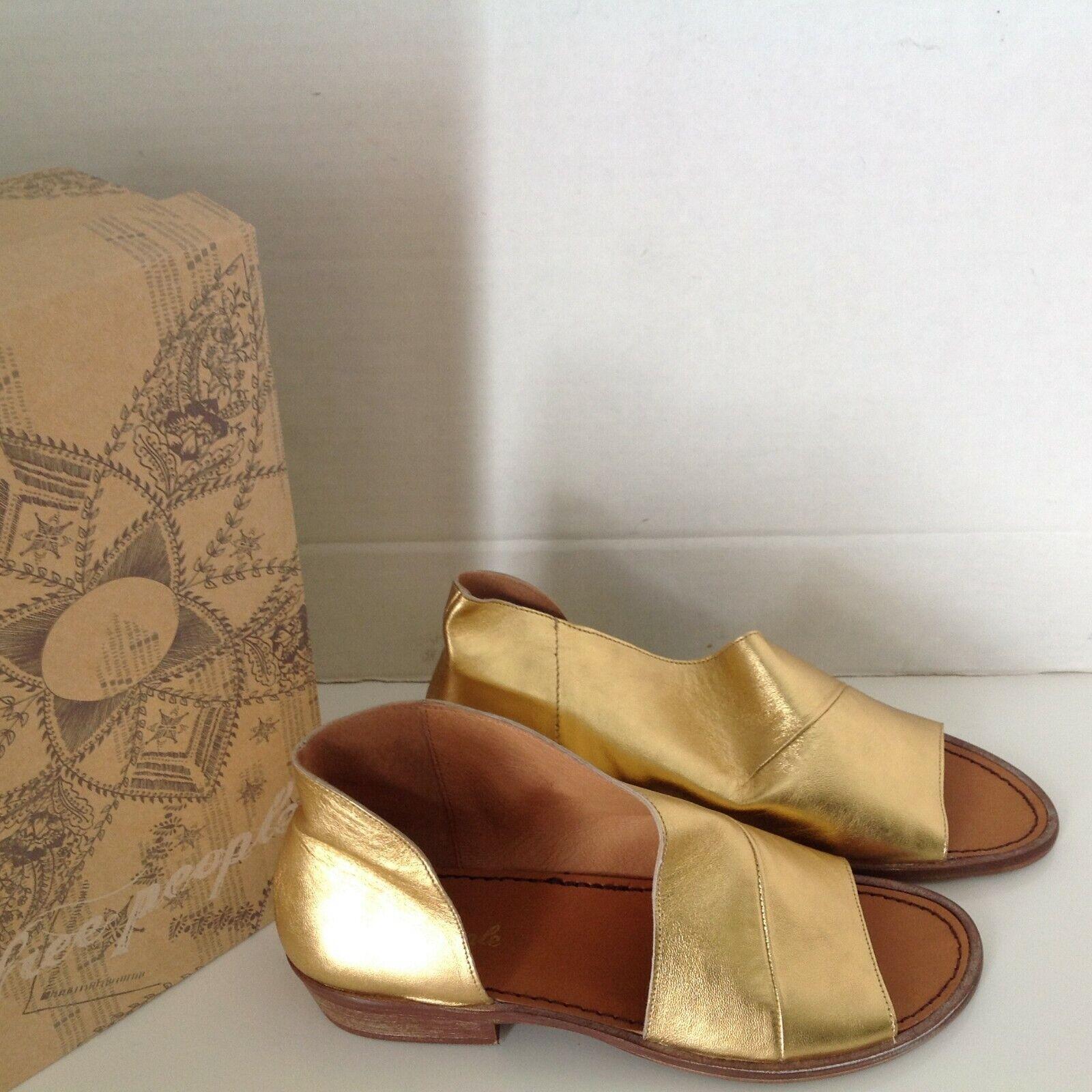 Free People oro Mont blanco Wrap Asymmetrical Cut-Out Sandal zapatos 41 Talla 11