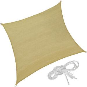 Voile-d-039-ombrage-protection-UV-solaire-toile-tendue-parasol-carree