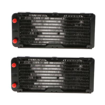 Aluminum Radiator 18Pipe Heatsink PC Water Cooler Screw Heat Exchanger 120mm