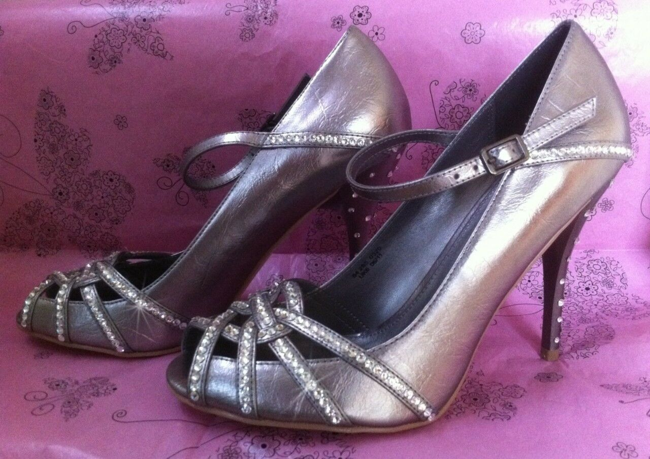 Silver Sparkle Crystal Peep Toe Wedding Bridal Schuhes With SWAROVSKI ELEMENTS