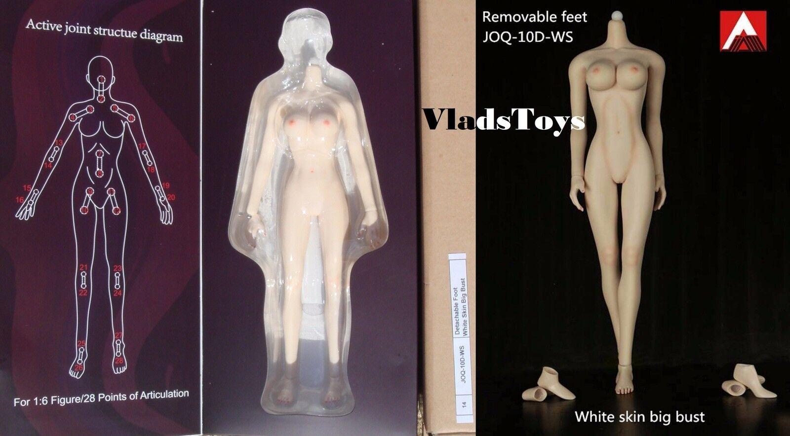 Jiaou Doll 1 6 Scale Seamless Female Body 3.0 Light make-up Big Bust White USA