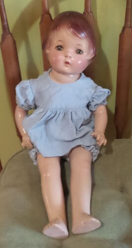 "22"" VINTAGE MADAME HENDREN PEACHES DOLL COMPOSITION CIRCA 1930 PATSY TYPE"