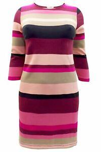 NEW-Ex-H-amp-M-Pink-Purple-Black-Beige-Jersey-Bodycon-Dress-XL-to-4XL