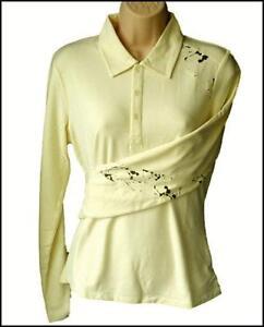 Bnwt-Women-039-s-Oakley-Stretch-Golf-Polo-Shirt-Blouse-Xlarge-Longshot-New-Yellow
