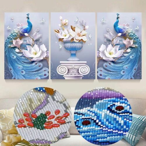 Special diamond painting embroidery full drill round,living room decor,peacocks