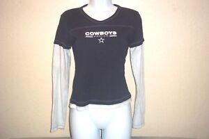 Dallas Cowboys Authentic Apparel T Shirt Long Sleeve Petite Juniors