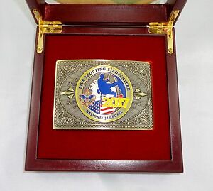 2017 National Boy Scout Jamboree Official Collector's Belt Buckle with Case