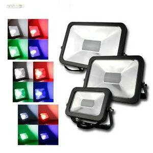 Led-Lampe-Mince-RGB-avec-Telecommande-IP44-10-30-50w-Noir-Anthracite-Spot