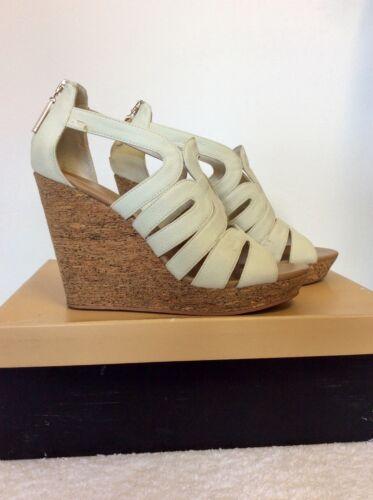 5 38 Size Heel Wedge Strappy £85 Sandals Cost Cork Karla White Carvela x8zUTT