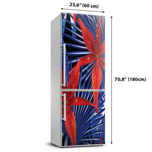 Details about  /3D  Refrigerator Wall Self Adhesive Removable Sticker Flowers Tropical flowers
