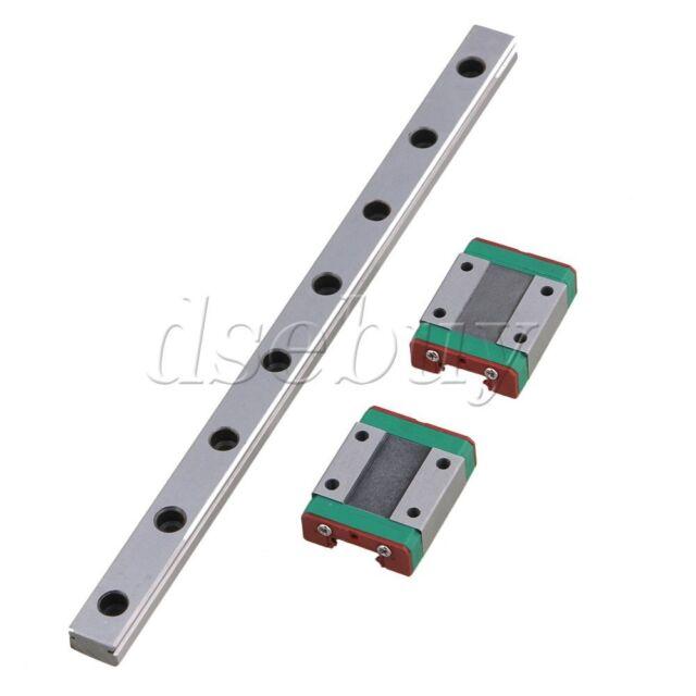 50cm MGN12 Bearing Steel Linear Sliding Guide Rails /& Block Set Silver