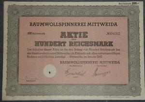 Baumwollspinnerei-Mittweida-1942-100-RM