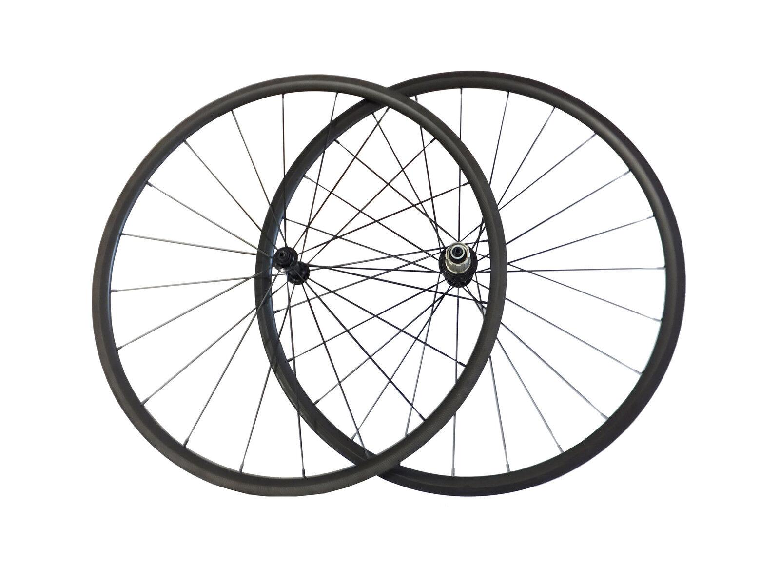 24mm Clincher Carbon Road Bike Bicycle Wheels 700C Carbon Wheels 23mm width