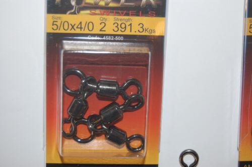 4582-500 862lb 2 packs spro combination power swivels 5//0x4//0 391.3kgs