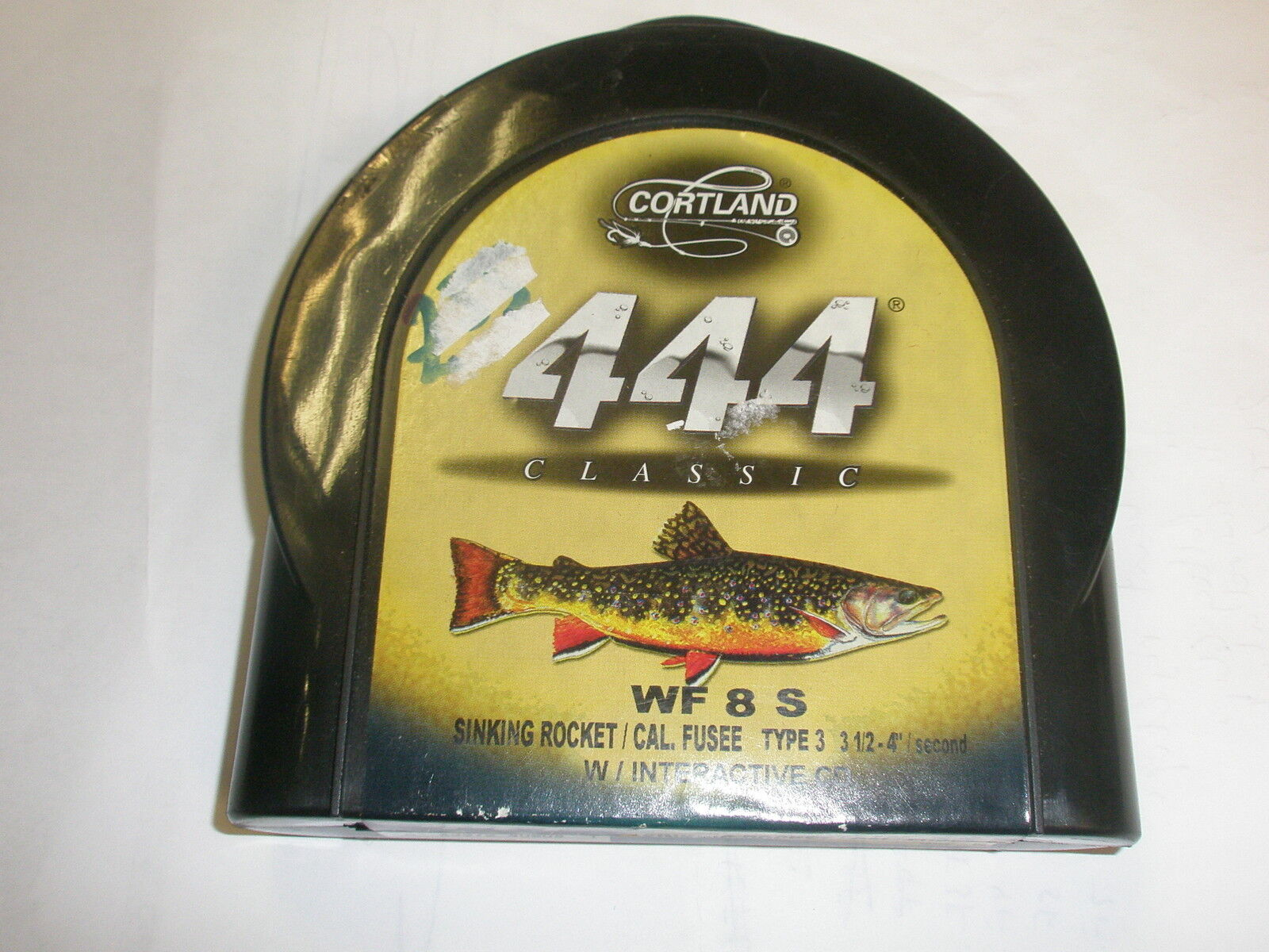 Cortland 444 Classic Med. Floating Flyline WF8S Type 3 Med. Classic Braun Fly fishing 4e1365