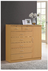 Genial Details About Wood Bedroom Dresser Tall Chest Of Drawers XL Wooden Cabinet  Clothes Organizer