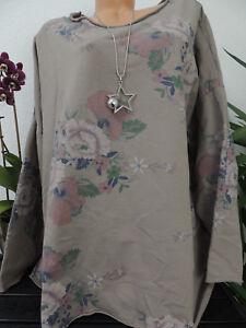 san francisco 2005c 266b6 Details zu Damen Sweatshirt Größe 44 46 48 50 Übergröße Pullover Langarm  Blumenmuster 129d