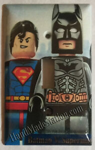 Lego Superman Batman Light Switch Duplex Outlet wall Cover ...