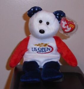 Ty Beanie Baby ~ SMASH the US OPEN Tennis Bear ~ NEW MWMT 8421402700 ... 50e4f2dfff0c