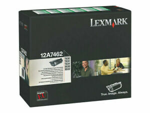 Lexmark 12A7462 Black High Yield Toner Cartridge Genuine OEM Original Retail Box