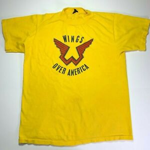 Wings Over America 1976 Vintage Tour T-SHIRT FREE SHIP USA