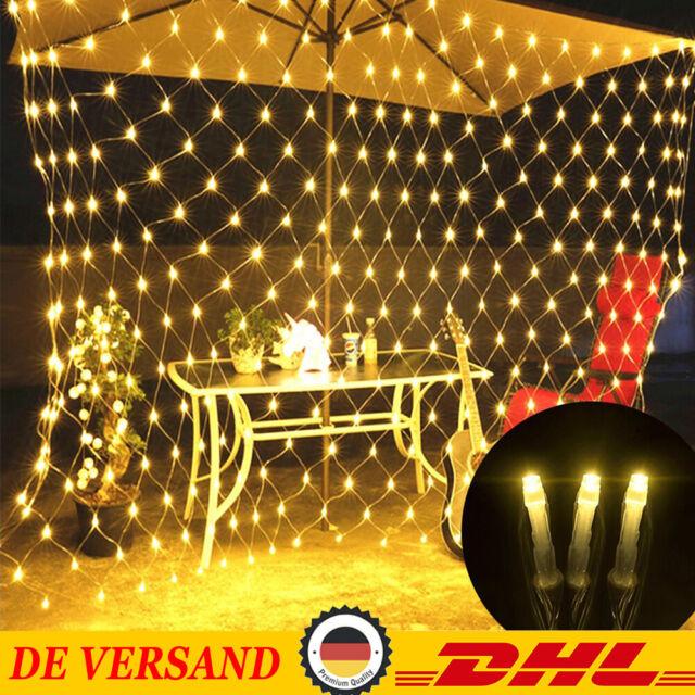 200/880 LED Innen Außen Lichternetz Lichtervorhang Lichterkette Weihnachten Deko