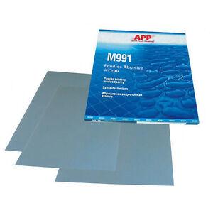 4-feuilles-grain-1500-de-papier-abrasif-pour-poncer-a-l-039-eau-format-230-x-280mm