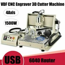 Usb 1500w 4 Axis 6040cnc Router Engraver Woodworking Milling Drilling Machine Us