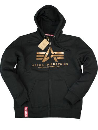 Felpa giacca basic 365 con cappuccio 6147 con nero 178325 Alpha oro Industries cappuccio T6rTfqxw