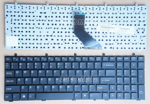 NEW For Clevo W350ET W350ETQ W350SKQ W370SK Keyboard US NO BACKLIT /& Frame
